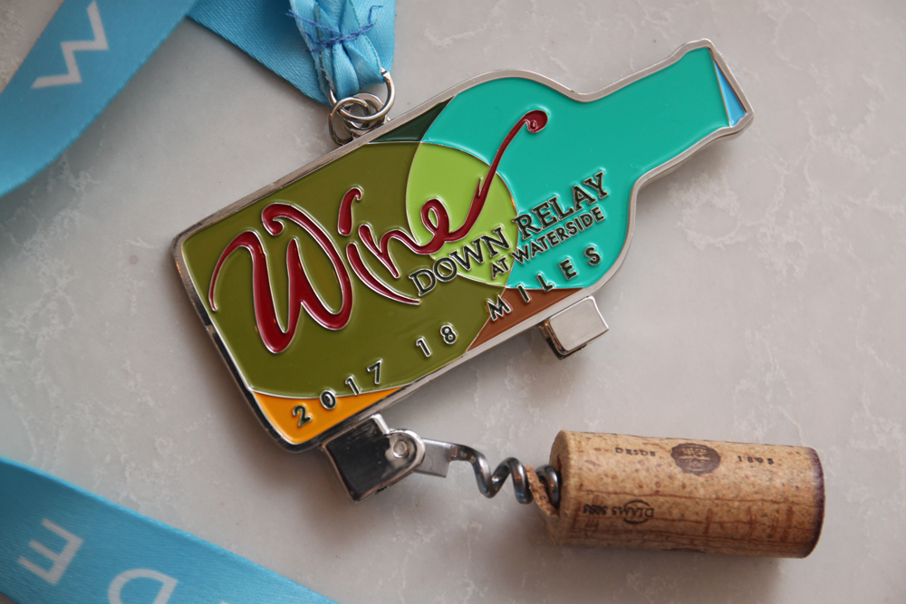 Wine Down Medal Social Running